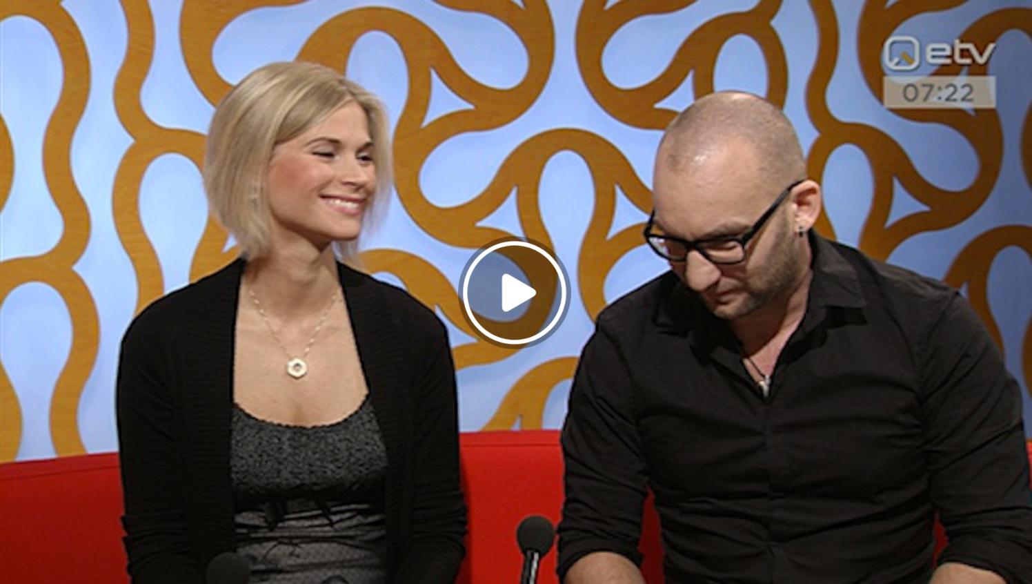 """2.11.2015 """"Terevisioonis"""" käisid külas meelerahu koolitaja Matti Orav ning psühholoog ja oleviku-terapeut Helena Väljaste."""